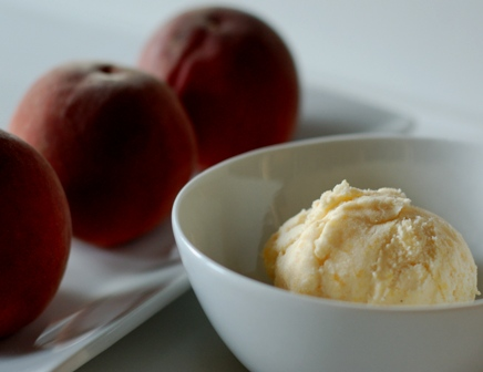 Roasted Peach Lavender Ice Cream