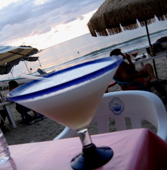 sayulita, margaritas on the beach, sunset in sayulita, mexico