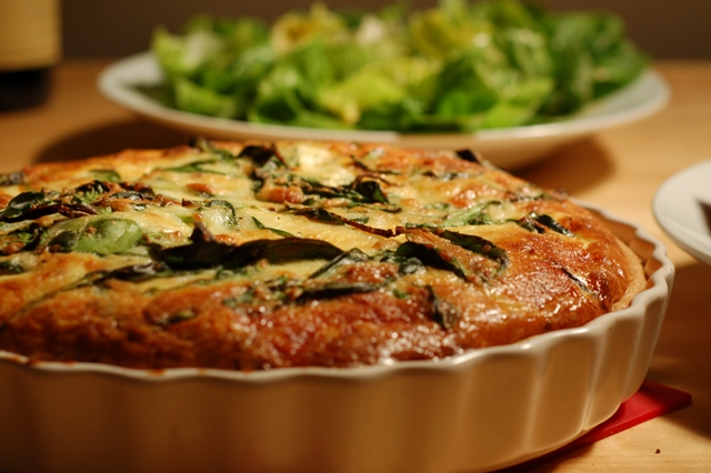 Quiche, GYO, Andreas Recipes, Grow Your Own, cooking, eating, dinner, food, food blog, french, culinary, recipes, organic food, bi rite market, pancetta, rosemary