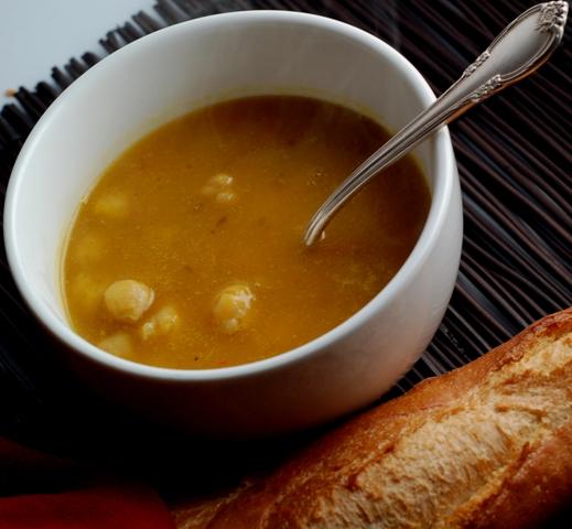 Pumpkin Chickpea Soup