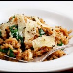 Pancetta Spinach Risotto