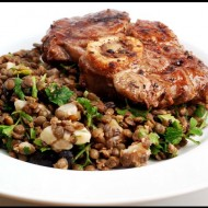 Veal Shanks with lentil salad