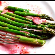 Roasted Chilean Sea Bass with Baby Spring Asparagus