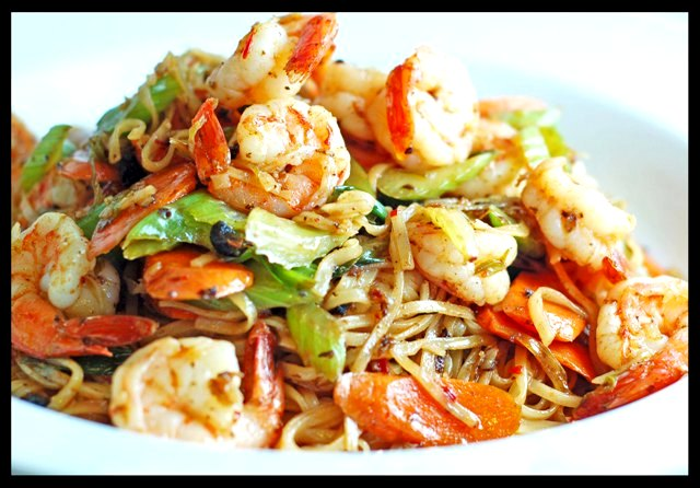 Black Garlic Stir Fry Shrimp