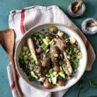 Lamb Shanks with Fava Beans