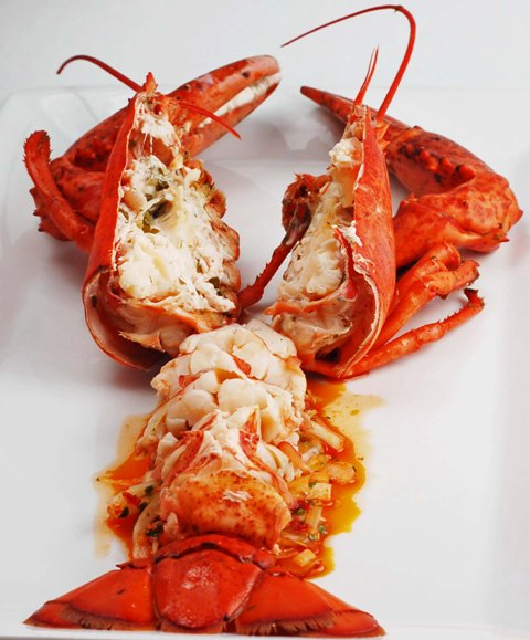 Lobster Azorean Style with Joe's Spicy Portuguese Sauce