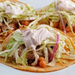 Snapper Tacos with Refried ChickPeas