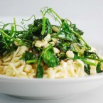 White Corn and Sweet Pea Shoot Sauce
