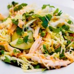 Vietnamese Cabbage and Chicken Salad:  ga xe phay
