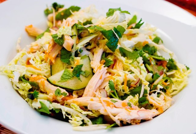 Vietnamese Cabbage and Chicken Salad:  ga xe phay
