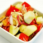 Moroccan Cucumber and Red Pepper Salad