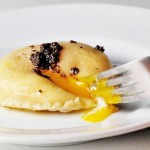 LiveSTRONG With A Taste Of Yellow 2009:  Ravioli filled with homemade ricotta and runny egg