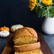 Pumpkin Bread with Maple Cheesecake Layer