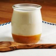 Vanilla Bean Buttermilk Panna Cotta with Passion Fruit Gelee