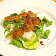 Chilli Kaffir Lime Beef Skewers