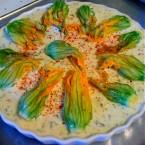 Crustless Zucchini Blossom Quiche
