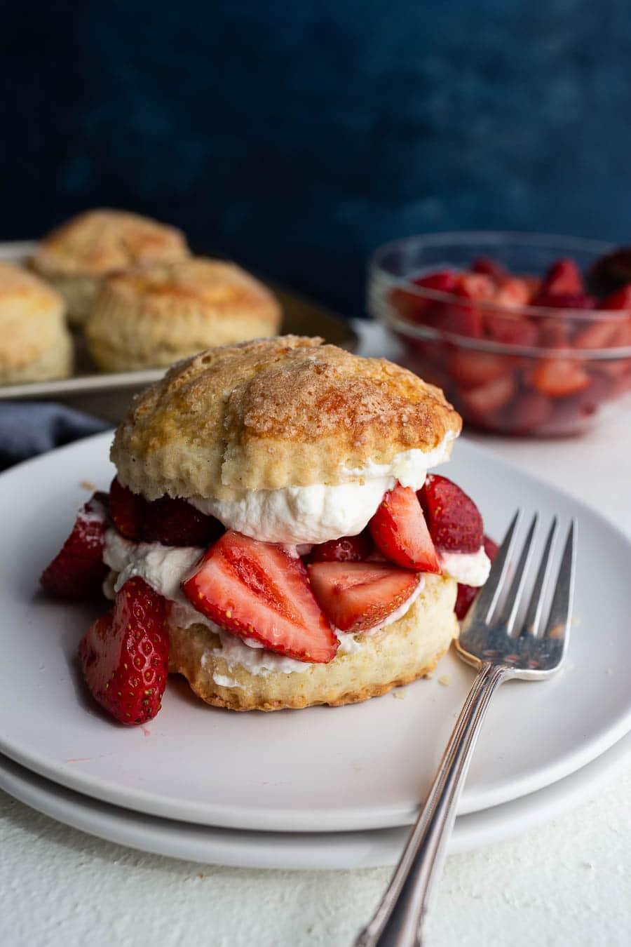 Strawberry Shortcake with Buttermilk Vanilla Bean Biscuits