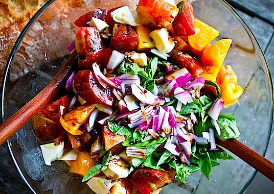 Rough Caprese Salad