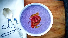 Kid Friendly Purple Cauliflower Soup