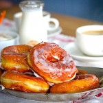 Black Cardamon Doughnuts with Warm Apple Cider Glaze