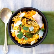 Butternut Squash, Leek and Clam Risotto