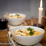 Hearty Corn Chowder with Chipotle Whipped Cream