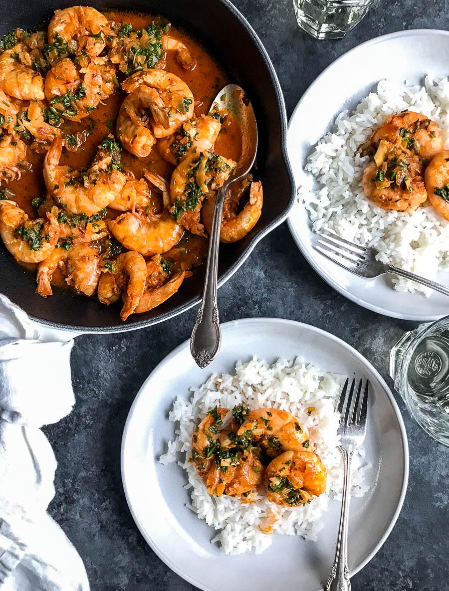 Spicy Portuguese Shrimp