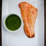 Grilled Copper River Salmon with Dill Pesto