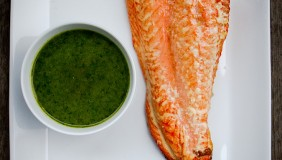 Grilled Copper River Salmon with Dill Pesto