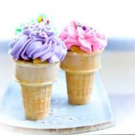 Birthday Cupcakes in a Cone