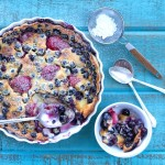 Blueberry and Strawberry Clafouti