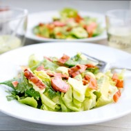 Copper River Salmon Salad with Creamy Asian Avocado Dressing