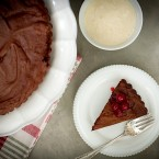 Flourless Chocolate Tart with Sugared Cranberries