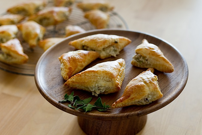 Olive and Goat Cheese Turnovers - Chez Us