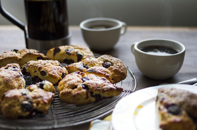 Blueberry Meyer Lemon Scones - Chez Us
