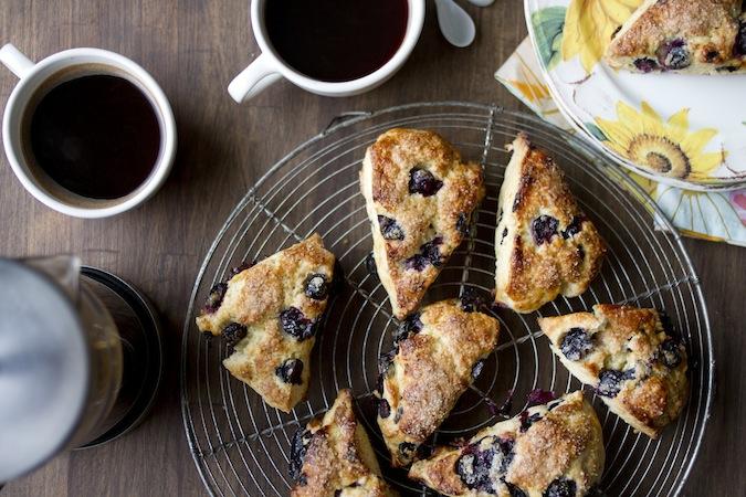Blueberry Meyer Lemon Scones - Chez Us