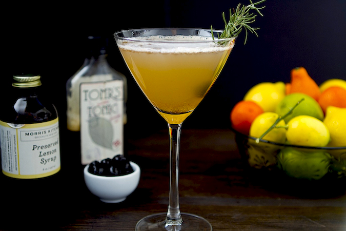 Rosemary Preserved Lemon Spritzer (non-alcoholic) - Chez Us