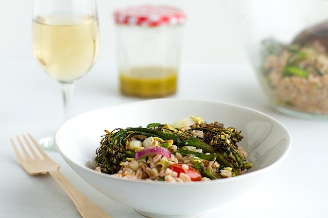 Farro and Roasted Broccolini Salad - Chez Us