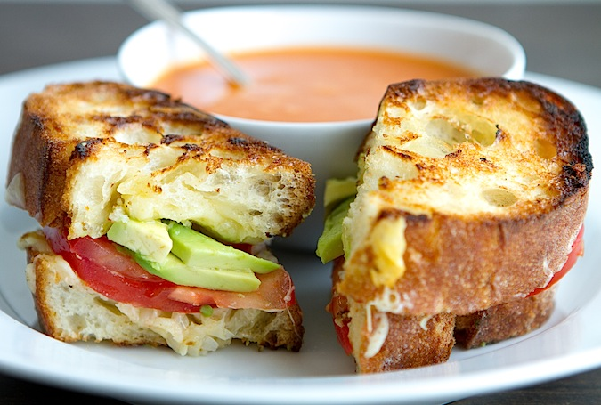 Grilled Cheese with Green Garlic Butter, Tomatoes and ...