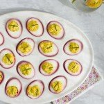 Beet Dyed Pink Deviled Eggs