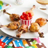 Lollipop Chicken with Candy Glaze