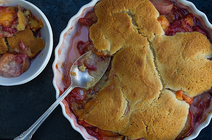 Roasted Peach Cobbler - Chez Us