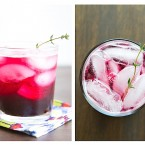 Blueberry Thyme Gin Fizz