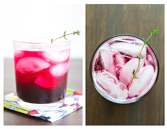 Blueberry Thyme Gin Fizz - Chez Us