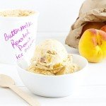 Roasted Peach Buttermilk Ice Cream