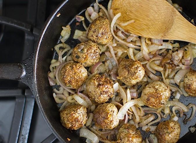 Lamb Souvlaki Meatballs - Chez Us