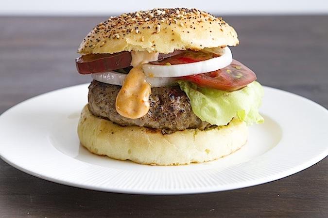 Homemade Everything Hamburger Buns