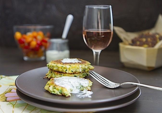 Zucchini Pancakes With Minty Dill Creme Fraiche Recipes — Dishmaps