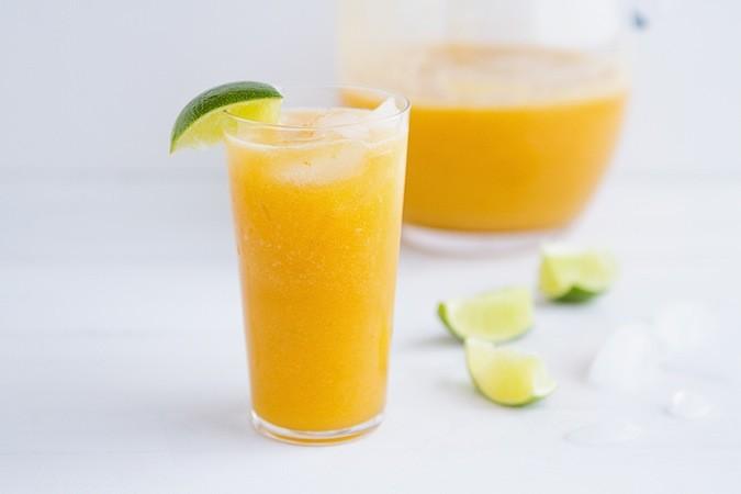 Cantaloupe Lime Agua Fresca - Chez Us