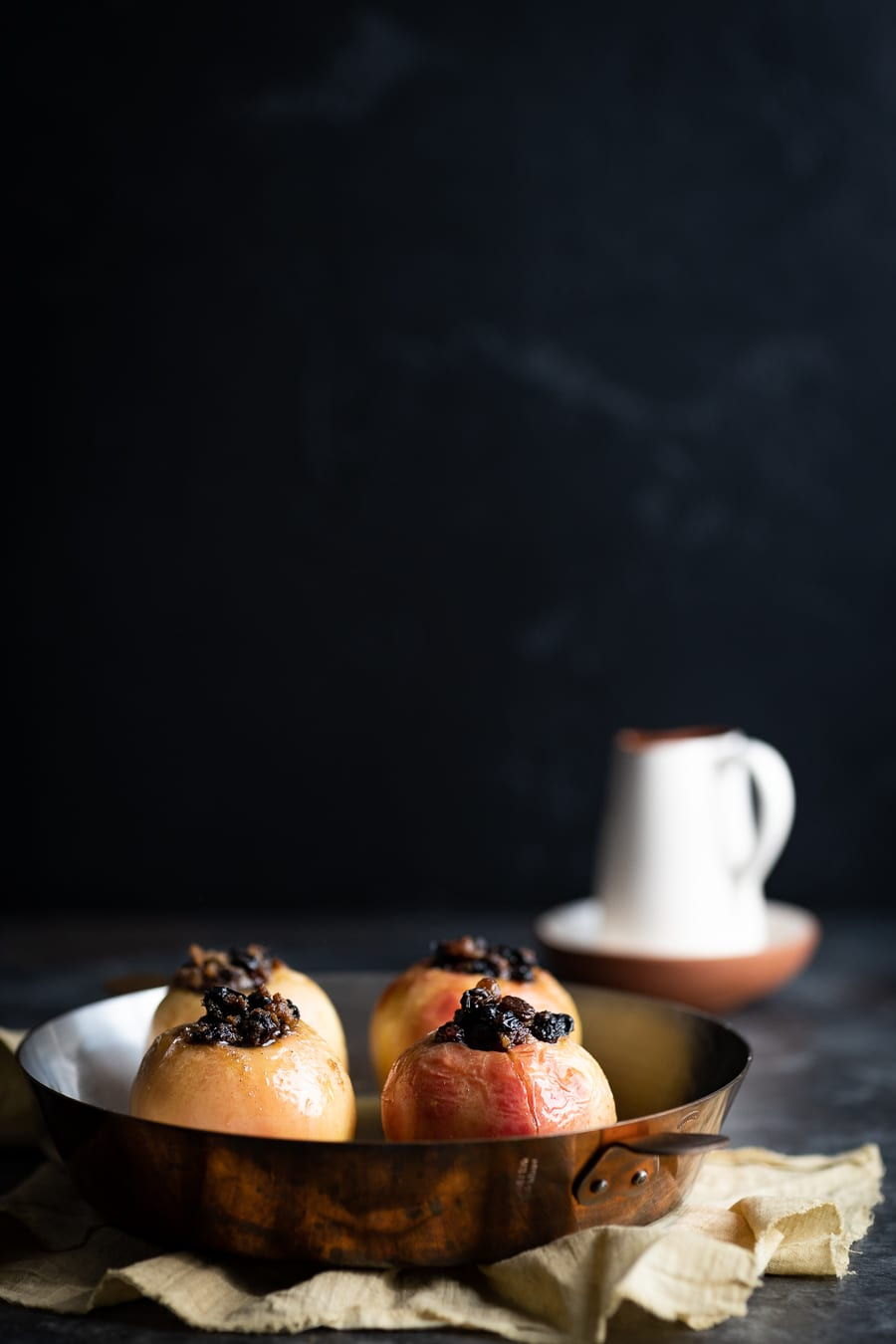 Baked Apples with Creme Anglaise